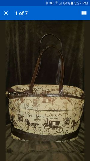 Coach Farm Cowgirl Horse and Carriage Multifunction Diaper Bag Tote Rare for Sale in Yorktown, VA