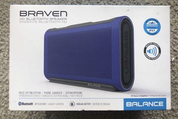 New Braven waterproof bluetooth wireless speaker