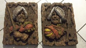 Vintage Vanguard Conquistador Wall Plaques 1967 **30.00 Firm for Both** for Sale in Orlando, FL
