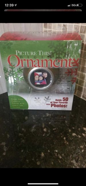 Picture this digital photo red ornament ball. Brand new for Sale in Shelby Charter Township, MI
