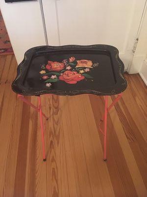 Used, Vintage Rose Tray Side Table for Sale for sale  Sayreville, NJ