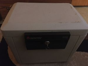 Sentry small safe with key for Sale in Spokane, WA
