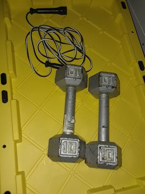 10lb weights/Jump rope $15 for Sale in Detroit, MI