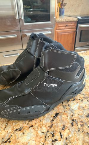 Alpine stars Triumph motorcycle boots size 11 for Sale in Cave Creek, AZ
