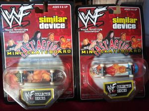 WWE Mini Fast Action Skateboards 2 total (will sell individual) for Sale in Wichita, KS
