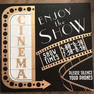 Large wood sign for home movie theatre decor for Sale in St. Petersburg, FL