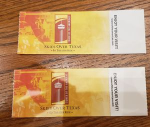 2 tickets Tower of Americas for Sale in San Antonio, TX