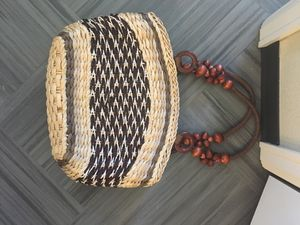 Woven beachy bag with zipper for Sale in Lakewood, CO