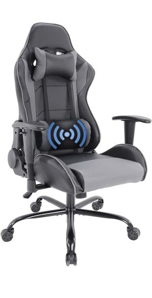 Comfortable Ergonomic Massage Computer Gaming Chair with Backrest & Soft Headrest for Sale in Tempe, AZ