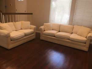 FREE sofa and loveseat with stains (Burton James) for Sale in Whittier, CA