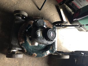 Lawn mower runs excellent one pull don't let the Patina fool ya this runs great for Sale in Lowell, MA