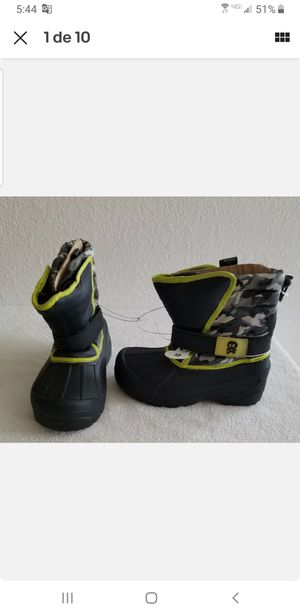 Athletech Boys Kids Winter Snow Boots Size 1 for Sale in Hesperia, CA