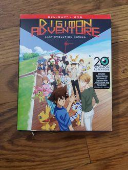 Digimon Adventure Last Evolution Kizuna DVD + BLU RAY COMBO for Sale in Fresno,  CA