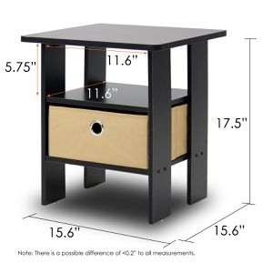 Furinno Andrey End Table Night Stand with Bin Drawer for Sale in Houston, TX
