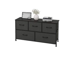 WLIVE Dresser with 5 Drawers, Fabric Storage Tower, Organizer Unit for Bedroom, Hallway, Entryway, Closets, Sturdy Steel Frame, Wood Top, Easy Pull H for Sale in Rancho Cucamonga, CA