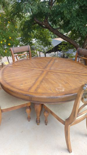 Ashley brand dining room set, table and 4 chairs, side table and china hutch for Sale in Escondido, CA