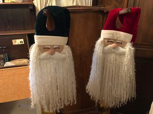 Hanging cloth Santa faces for Sale in Haverhill, MA