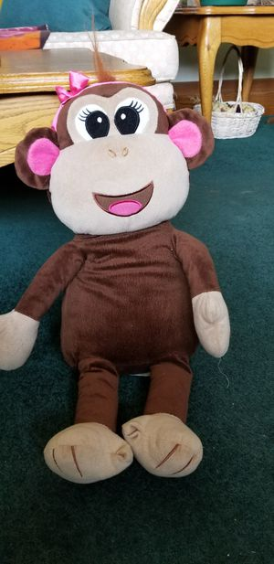 Monkey stuffed animal, little girls stuffed animal for Sale in Apple Valley, CA