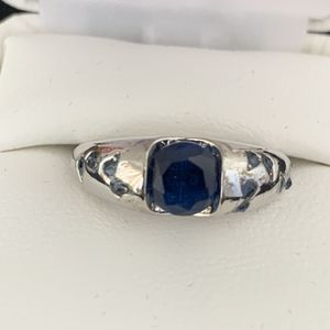 Vintage silver blue sapphire women wedding engagement ring jewelry for Sale in Newport Beach, CA