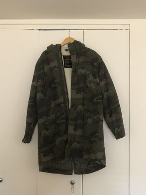 Camo parka jacket with hoodie from H&M for Sale in Queens, NY