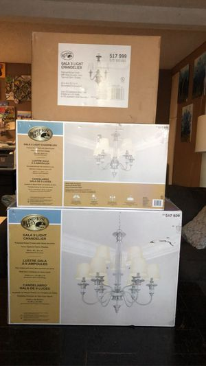 🟣New Hampton bay chandeliers 🟣 1 for your living room .. 1 for your dinning room .. 1 for your favorite room ... all 3 for $100 for Sale in Hawaiian Gardens, CA