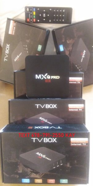 Android TV Box 4K set already with many features sticks don't have! for Sale in Atlanta, GA
