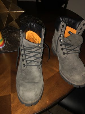 Men's Grey Timberland boots for Sale in Washington, DC