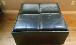 Ashley's leather four tray and storage ottoman. for Sale in Bend, OR