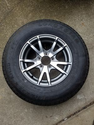 ST205/75R14 Load Star trailer tires and aluminum rims New 2018 for Sale in Portland, OR