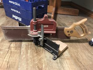 iter saw and craftsman miter box frame jig for Sale in Oklahoma City, OK