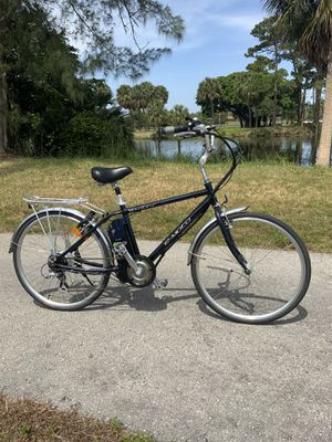 E-Moto Electric Bike Bicycle Blue With Power Assist and upgraded Full Throttle comes with extras for Sale in Lake Worth, FL