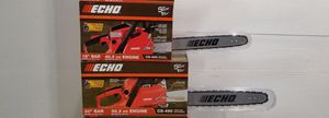 Echo Chainsaw 18inch and 20inch for Sale in Romeoville, IL
