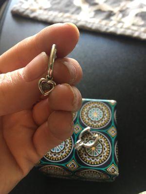 Sterling Silver/ diamond earrings - barely worn for Sale in Denver, CO