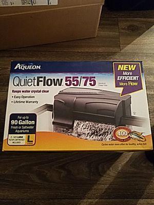 Aqueon 90 gallon aquarium power filter for Sale in Forest Park, GA