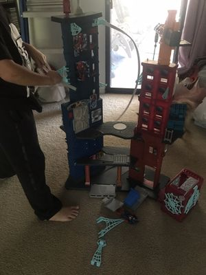 Tall Spiderman tower and pieces for Sale in Hemet, CA