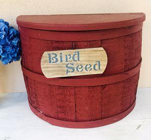 Wood Half-Barrel Farmhouse Storage Container- $18 for Sale in Merritt Island, FL
