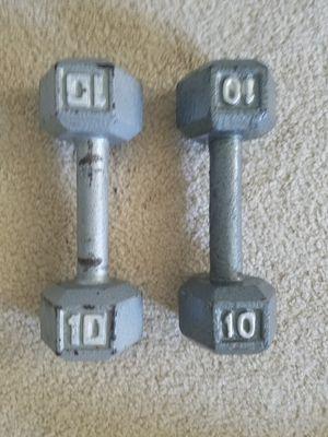 Set of 10lb Dumbbells for Sale in Largo, FL