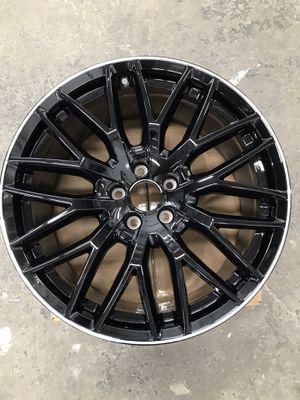 AUDI A5 20 SPOKE BLACK MACHINED LIP (single wheel only) for Sale in Los Angeles, CA