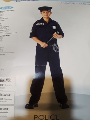 POLICE OFFICER COSTUME FOR BOYS. Size 10-12 for Sale in Queens, NY