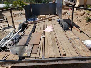 18 foot Car trailer dual axle needs work for Sale in Nuevo, CA