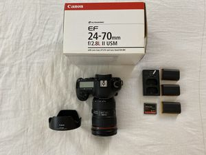 Canon 5D Mark IV and 24-70 II f/2.8 for Sale in Irvine, CA