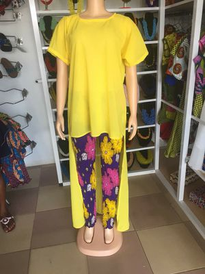 High quality African print stretch pant and top - size 12 for Sale in Baltimore, MD
