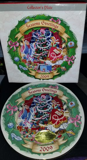 Disney Collector's Plate Christmas Through The Years 2009 Cinderella for Sale in Spring Valley, CA