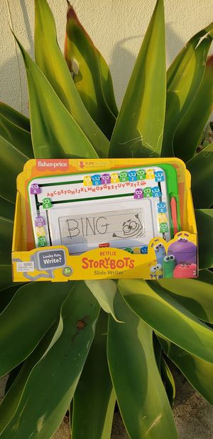 NEW Storybots Magnetic Drawing Writing Board Tablet Moveable letter tiles stylus pen help kids practice spelling School Supplies for Sale in Ventura, CA