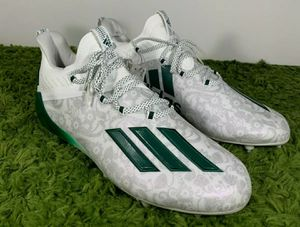 Adidas Adizero Reign Young King White Green Mens Football Cleats FU6706 Sz 10 & 11.5 NO BOX for Sale in Los Angeles, CA