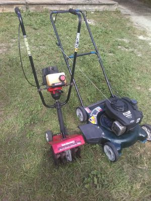 Yard Machine edger/bolen lawn mower carb issues as is 30.00 each for Sale in Tampa, FL