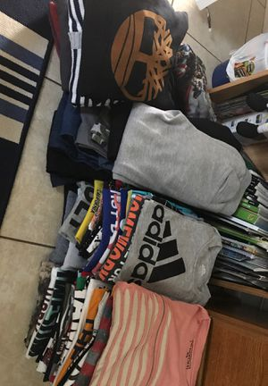 Boys size 7/8 bundle 62 tee shirts, 5 sweat pants, 8 pair of jeans 7 hoodies , 14 dress shirts 15 shorts , 13 tank tops an 7 polo under shirts for Sale in Port Richey, FL