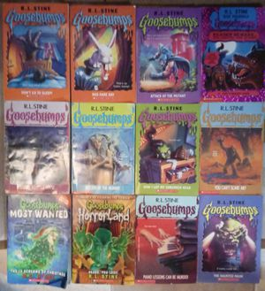 12- Goosebumps by R.L. Stone used 5 great condition to 6 good and one bent cover and by pages for Sale in Stockton, CA