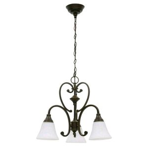 Chandelier - Somerset 3-Light Chandelier w/ Bell Shaped Frosted Shades for Sale in Kensington, MD