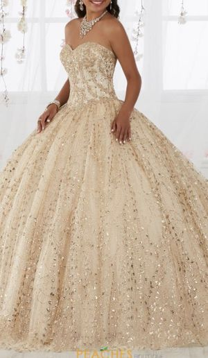 Gold Quinceanera Dress from Quinceanera Collection for Sale in Pasadena, TX
